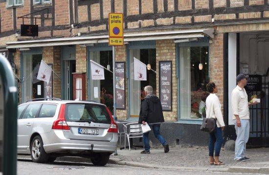 Lund, Suecia: Vy från andra sidan gatan