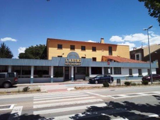Santa Eugenia de Berga, Hiszpania: Entrada restaurante