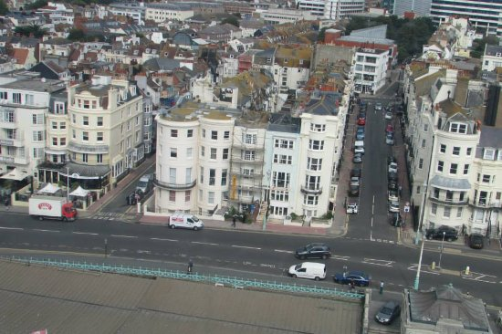 Atlantic Hotel seen from the Brighton Wheel (second from the left)