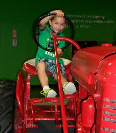Glen Allen, VA: Vinatge Farmall tractor for little farmers to play on