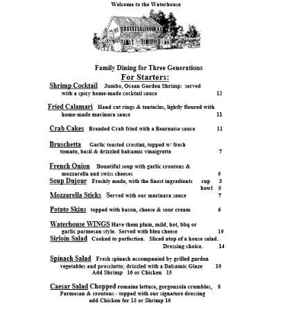 Lake Luzerne, NY: Menu - Page 1