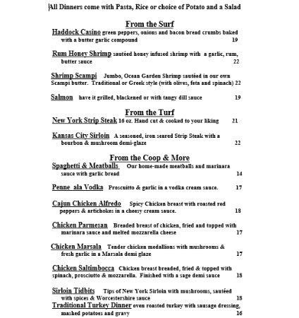 Lake Luzerne, นิวยอร์ก: Menu - Page 2