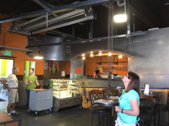 Lusk, WY: Another view of the interior. Great metal work and design!