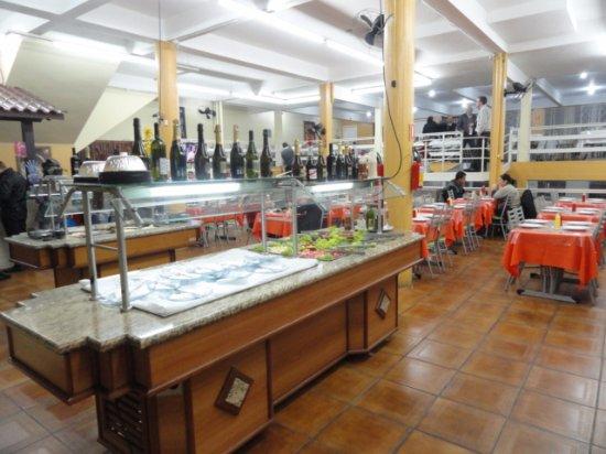 Gravatai, RS: Aspecto interno do bufffet - Pizzaria Engenho do Boi - Gravataí - RS