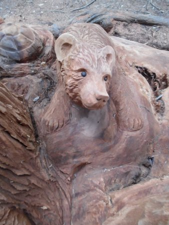 Leggett, CA: part of the wood sculpture