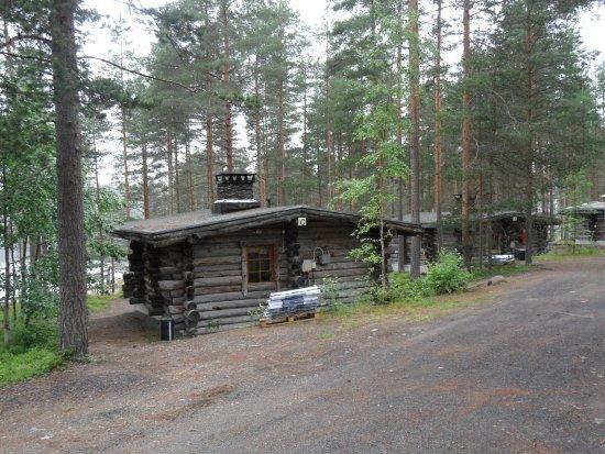 Kihnio, Finland: Blockhütten Blick Richtung See