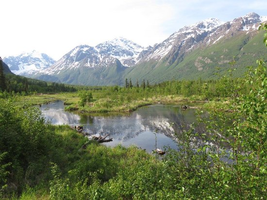 Eagle River Nature Center: View from overlook.