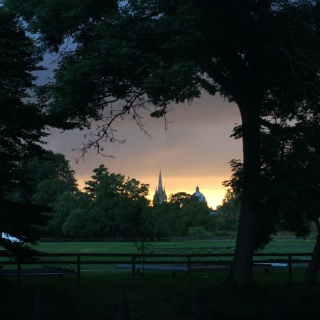 St. Hilda's College: view from the College of Magdalen at sunset