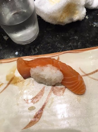 little rice, huge salmon