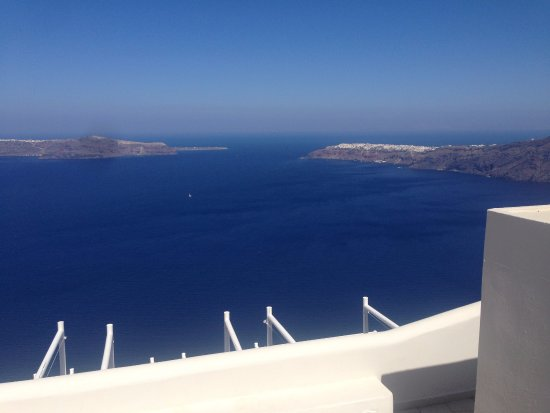 Andromeda Villas: View from outdoor dining area at restaraunt (taken during breakfast!)