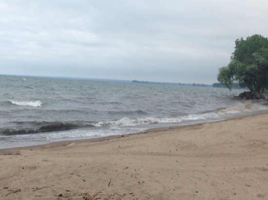Huron, OH: Beach at end of trail - Lake Erie