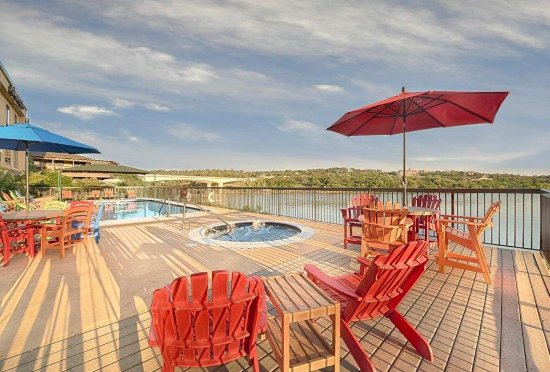 Marble Falls, TX: View from Pool