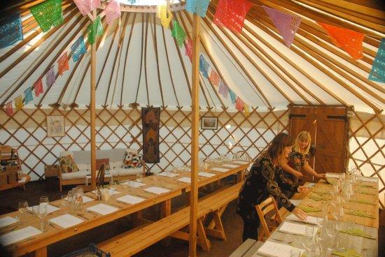 St Minver, UK: The Yurt Cafe