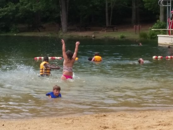 Kids Swimming In A Lake kids swimming in lake - picture of table rock state park, pickens