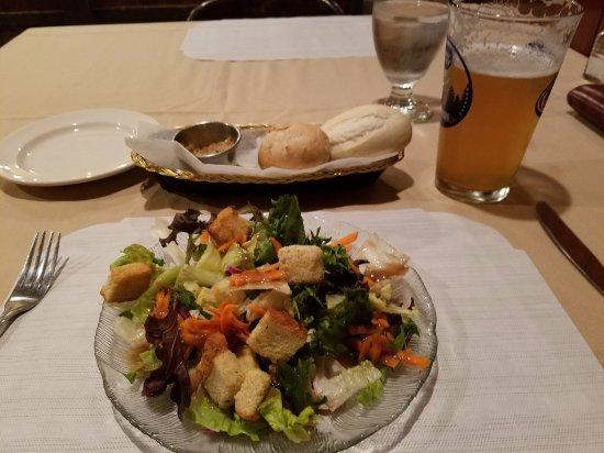 Waupaca, WI: Salad, Bread & Beer