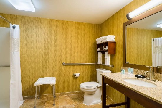 Danville, PA: King Accessible Room with Roll-in Shower
