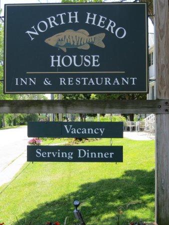 North Hero, VT: Sign for the inn