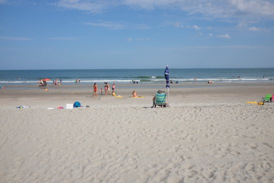 Hampton Inn & Suites Myrtle Beach/Oceanfront: Beach area at Hampton Inn & Suites, Oceanfront, Myrtle Beach SC
