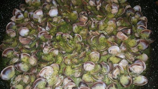 Almussafes, Spanyol: unas coquinas en salsa verda