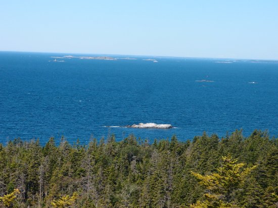 Isle Au Haut, ME: View from Duck Mountain summit
