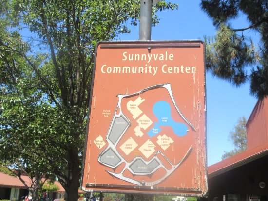 ‪‪Sunnyvale Theatre‬: Sunnyvale Theatre Map of Sunnyvale Community Center, Sunnyvale, CA‬