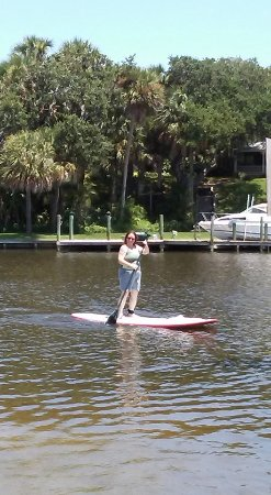 Palm Bay, Флорида: Ballard Park is a beautiful place to paddleboard. We saw many manatees.
