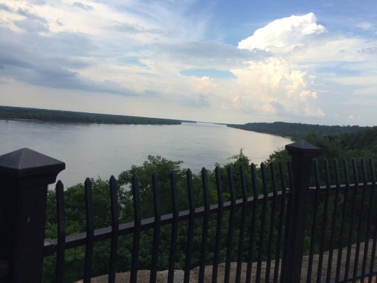 View of the Mississippi in Natchez at the end of the Trace