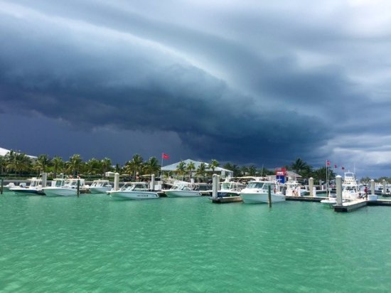 Bimini: Marina view with storm approaching photo credit Kay Pott