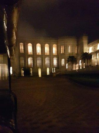 Taj Falaknuma Palace: View from the place entrance.