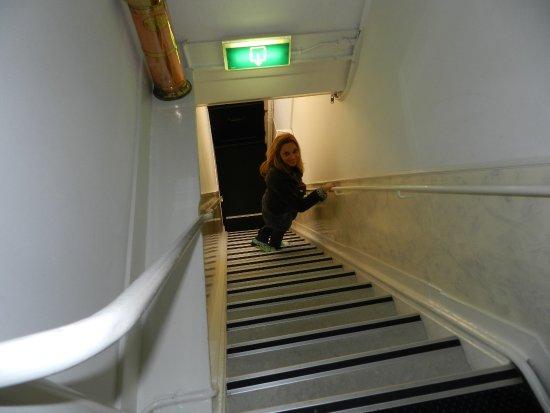 Prinsenhof: Escadas íngremes. Não é fácil...