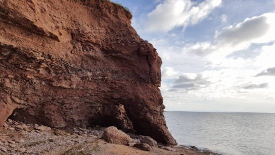 Tignish, Canadá: Beach access area - some climbing required