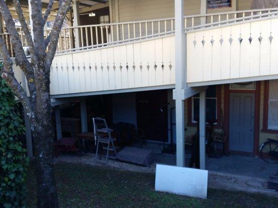 Arrowtown, Nowa Zelandia: Downstairs ramp above