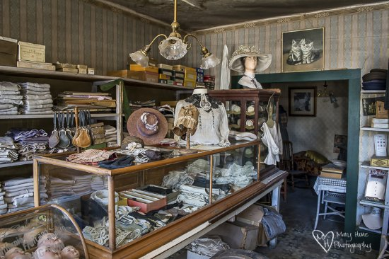 Virginia City, MT: Inside one of the mercantile shops