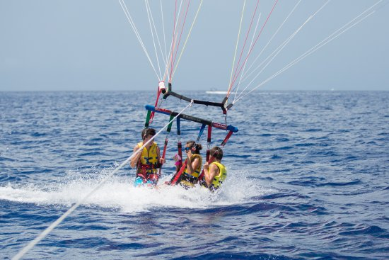 Parasailing Professionals: Fun times parasailing in the Grand Caymans.