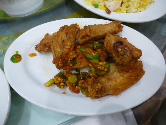 Deep Fried Chicken Wings with Spicy Salt & Chili
