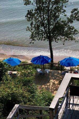 Saugatuck, ميتشجان: Beach lounging