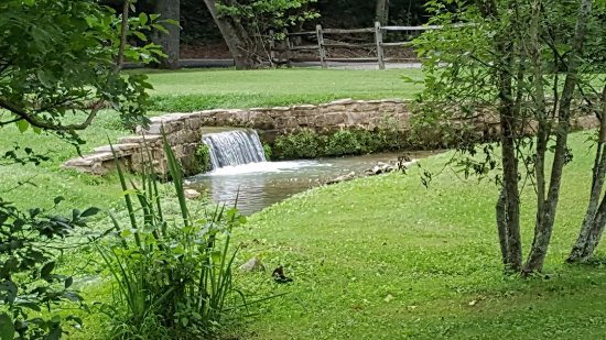 Mitchell, IN: A little waterfall in the village
