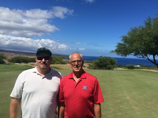 Hapuna Prince Golf Course: me and my dad enjoying a round and the view