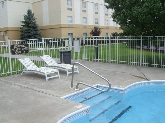 Pittston, PA: Swimming Pool Steps & Sign