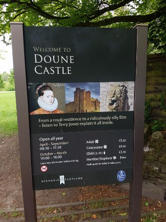 doune castle 2016 opening hours and prices - Open Castle 2016