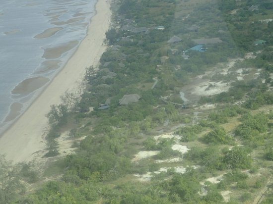Saadani National Park, Tanzânia: View of Saadani from the sky as we fly to Zanzibar 15 minutes away