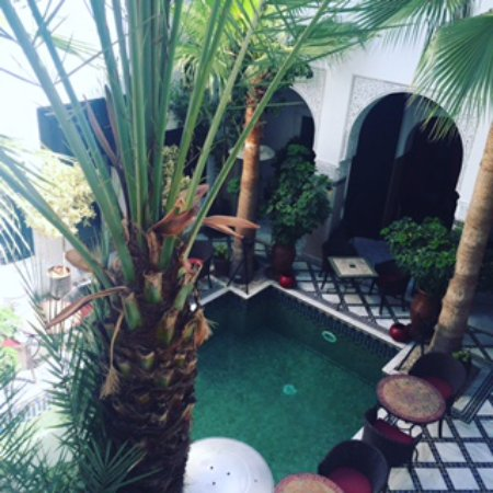 Le Riad Monceau: The beautiful courtyard