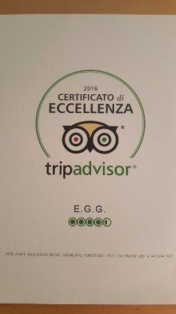Certificato d'eccellenza 2016 per E.G.G. !!!