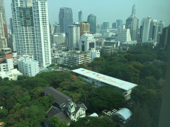 Oriental Residence Bangkok: From the corridor window.