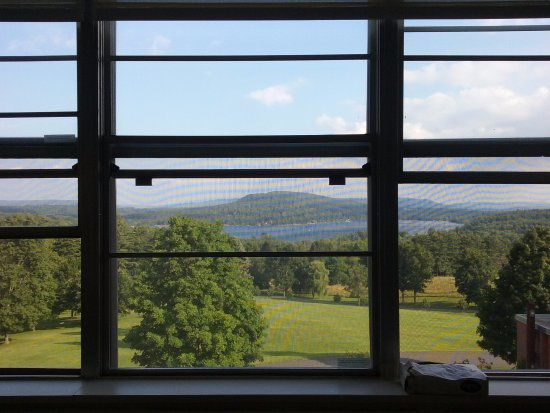 Kripalu Center for Yoga & Health: view from meditation room
