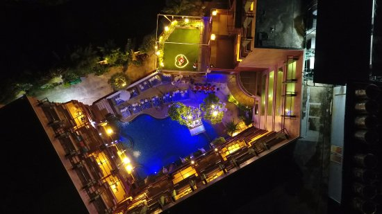 Blue Ocean Resort: View of hotel from drone