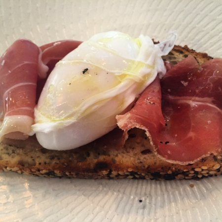 Brunswick Heads, Australia: Riso al Salto~ Paccheri w~ Prawns & Bisque~ Duck Egg Bruschetta ~ Allpress ~Frittata~ Spaghetti