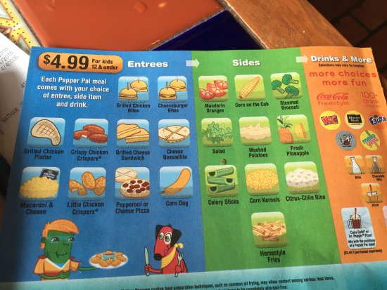 Plymouth, MN: Extensive, moderately price kids menu