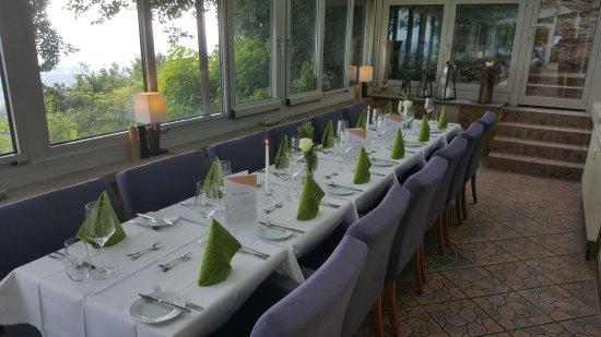 Rinteln, Γερμανία: Wintergarten mit Tafel
