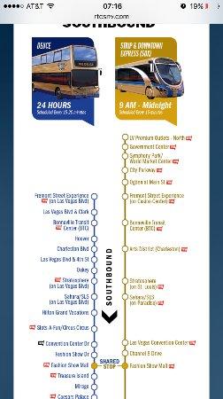 Deuce South Bound Route - Picture of The Deuce, Las Vegas ... on las vegas deuce route, double-decker bus vegas map, vegas deuce route map, las vegas maps printable, las vegas deuce schedule, vegas strip map, las vegas bus,